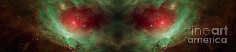Scary Red Alien Eyes Abstract Space Art by Animated Sentiments