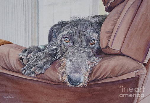 Scottish Deerhound by Gail Dolphin