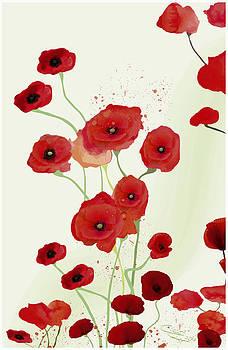 Sonata of poppies by Gabriela Delgado