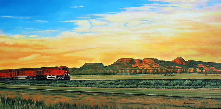 Southwest Red Train by Kristine Mueller Griffith
