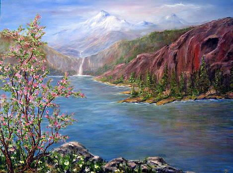 Spring on Glacier Lake by Thomas Restifo
