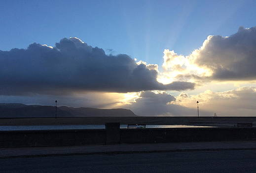 Sunbeams over Conwy by Christopher Rowlands