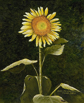 Sunflower in the Night by Mary Ann King