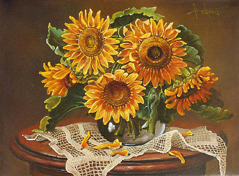 Sunflowers by Dusan Vukovic