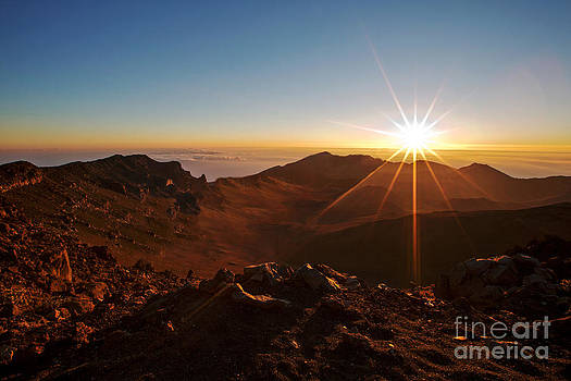Sunrise on Haleakala Volcano by Denise Woldring