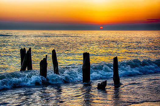 Sunrise Lake Michigan 10-30-13 by Michael  Bennett