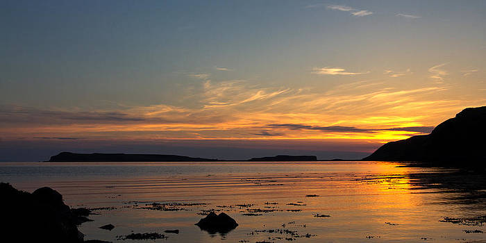 David Pringle - Sunset at Loch Bay