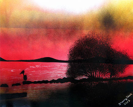 Sunset Beach by Sherry Chick