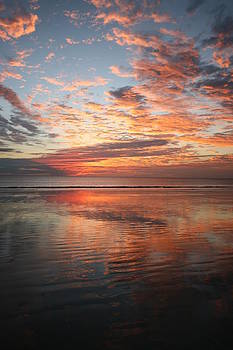 Sunset Reflection Cable Beach by Carl Koenig