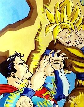 Super Man Vs Goku by Jin Kai