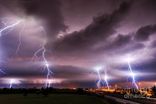 Supercell with lightning by Marko Korosec