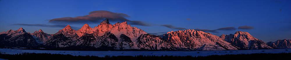 Raymond Salani III - Teton Range with Alpenglow