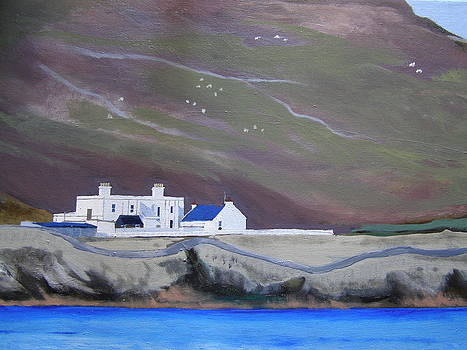The shore station at Burrafirth by Eric Burgess-Ray