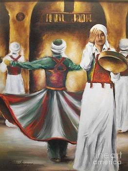 The Sufi dance by Ghada Ali yousri