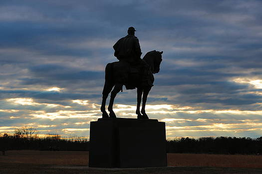 Thomas Jackson Manassas Battlefield Sunset by Scott Fracasso