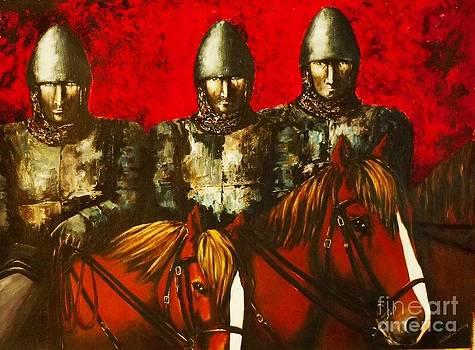 Three Knights by Kaye Miller-Dewing