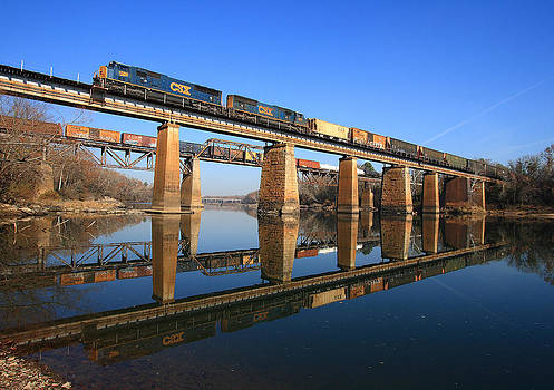 2 Trains 2 Trestles Cayce South Carolina by Joseph C Hinson Photography