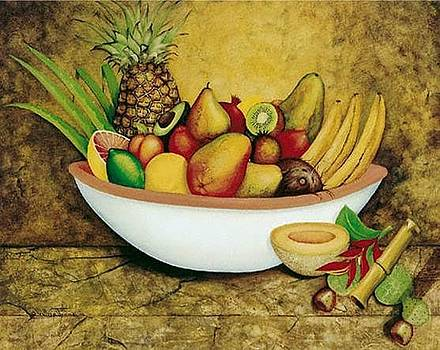 Tropical Bowl by William T Templeton