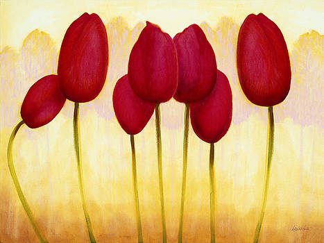Tulips are People XV h by Jerome Lawrence