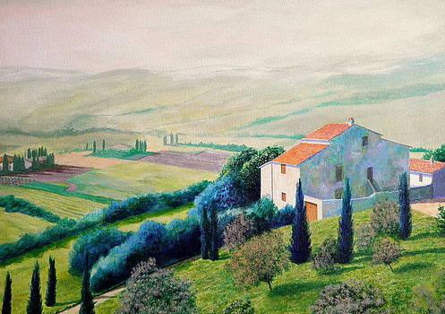 Tuscan Landscape by Erno Saller