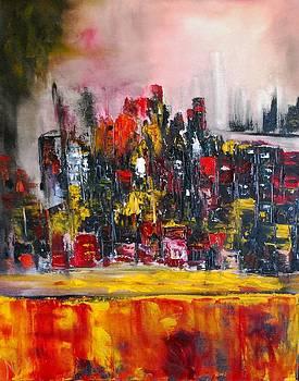 Untitled Cityscape by Larry Ney  II