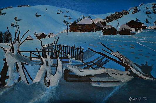 Village in the Snow by Ferid Jasarevic