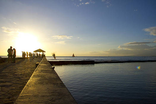 Waikiki Sunset by Ashlee Meyer