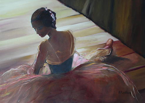 Waiting for the curtain to rise by Brigitte Roshay