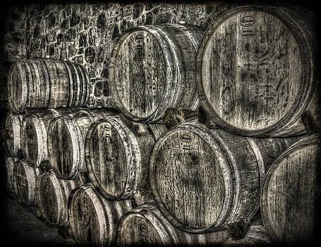 Wine Barrels by Deborah Knolle