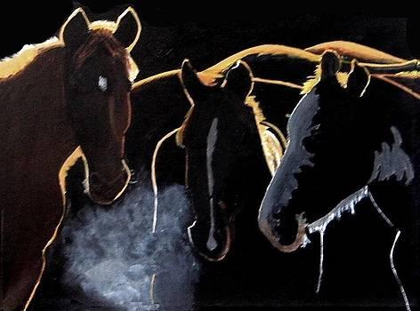 Winter Huddle by Harold Hopkinson