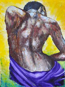 Woman's Back by Ray Johnson