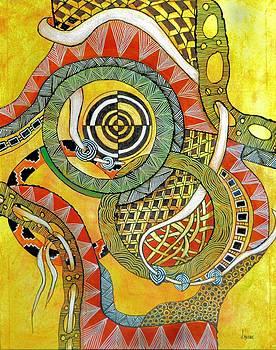 Zen Abstract by JAXINE Cummins