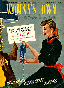 1940s Uk Womans Own Magazine Cover by The Advertising Archives