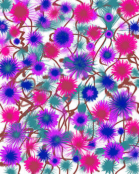 Abstract Flowers by Lee Ann Asch