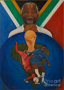2010 soccer world cup with Thabo Mbeki by Jeanne Silver