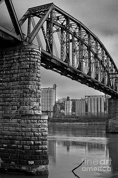 Railroad Bridge and Elevators at Glasgow, Mo. by Rick Grisolano Photography LLC