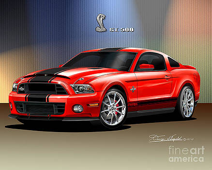 2014 Mustang Shelby Gt 500 Super Snake  by Danny Whitfield