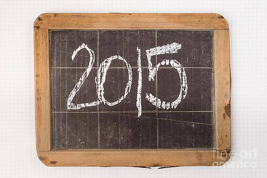 2015 Written On Vintage Slateboard by Gillian Vann