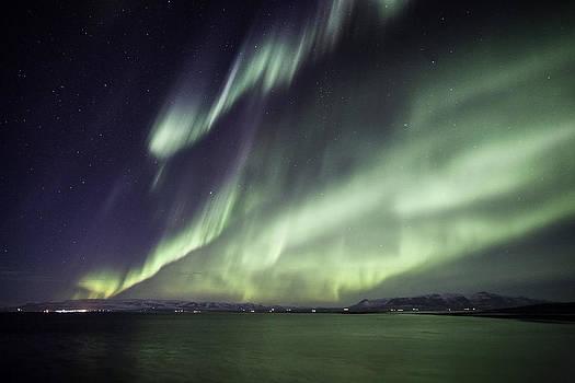 Aurora borealis by Frodi Brinks