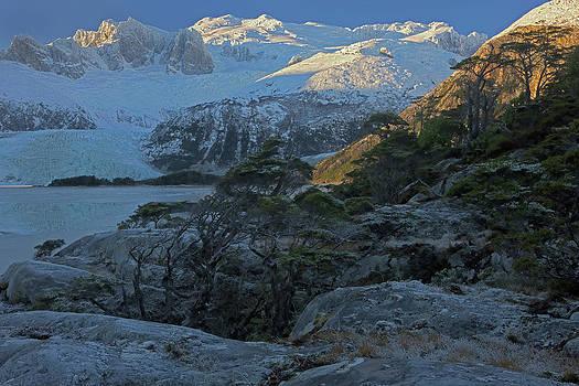Winter, Seno Pia, East Arm, Tierra Del by Peter Essick