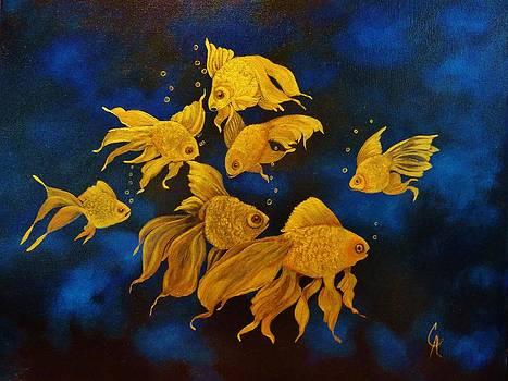 24ct Gold Fish by Carol Avants