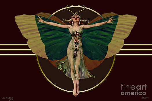 24x36 Butterfly Flapper by Dia T