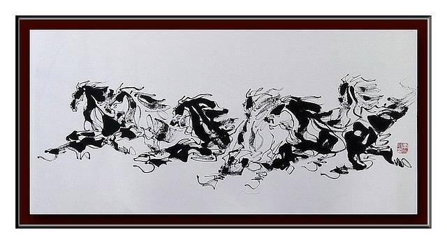 3 Black And 3 White Horses by Richard Xiaochuan Li
