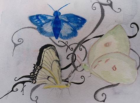 3 Butterflies by Marian Hebert