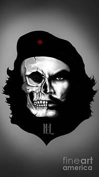 Che Guevara Half Skull by Luis Padilla