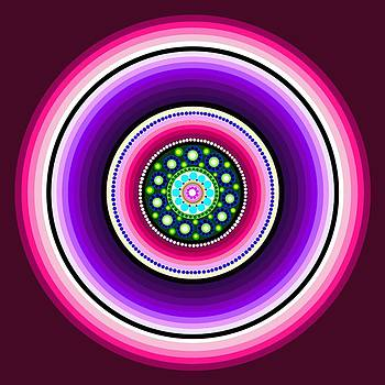 Circle Motif 129 by John F Metcalf