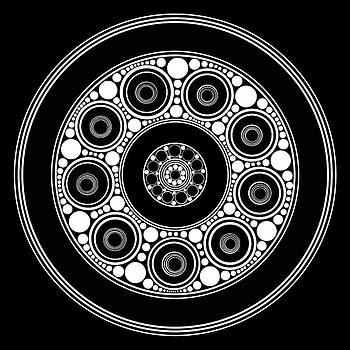 Circle Motif 137 by John F Metcalf