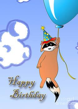 Jeanette K - Clown Raccoon with Balloon