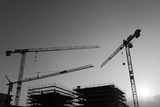 Construction cranes by Mats Silvan