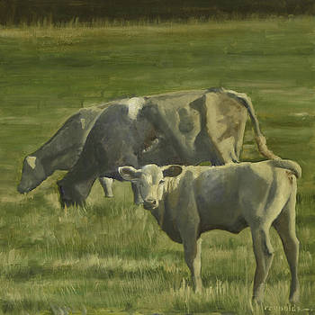 3 Cows In The Pasture by John Reynolds